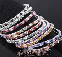 Wholesale Hot sell Colorful Spring Row Rhinestone Bracelet