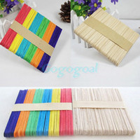 Wholesale 50X Wooden LOLLIPOP STICKS Party Popsicle Kids Crafts Ice Lolly Cake Pops Making