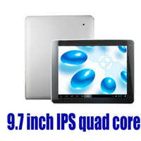 Wholesale 9 inch IPS Actions ATM7029 Quad Core Android Tablet PC Capacitive Screen RAM GB DDR3 ROM GB Dual Camera WIFI MID HDMI P