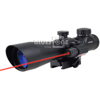 Wholesale 3 x42 Red Green Mil Dot Sight Scope With Red Laser Fit Picatinny Weaver Mount