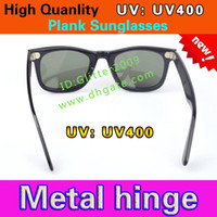 Wholesale New UV400 protection High Quality Plank black Sunglasses glass Lens black Sunglasses beach sunglasses UV protection sunglasses