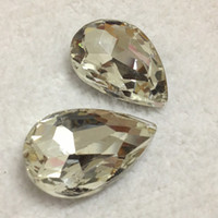 Wholesale crystal fancy stone tear drop crystal x14mm pear glass crystal beads crystal clear color