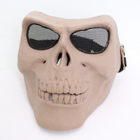 Wholesale Drss M02 Face Mask To Protect The Skeleton The Walking Dead Masks CS Protect Mask Scary Horror Living Dead Mask Khaki KH