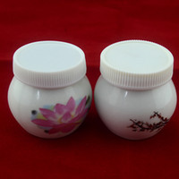 Wholesale Circular Chinaware Ceramic Crystal Bowl Cup Acrylic Liquid Dappen Dish with Cover Nail Art Tool T434