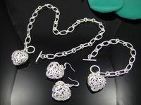 Wholesale Sterling Silver Set Sterling silver Necklace amp Bracelet amp Earrings Set Fashion Jewelry T229