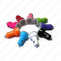 Wholesale 5V A Dual USB Ports Double Port Bullet Car Charger Adapter For iPad iPhone S iPod Touch Samsung S4 S3 HTC Blackberry Nokia