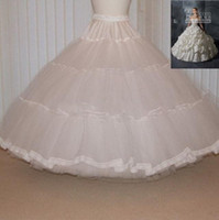 Wedding tulle petticoat - Elegant White Average Size Ball Gown Tulle Wedding Petticoats For Bridal AB707