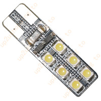 Wholesale 100pcs White T10 W5W SMD LED Bulb Vehicle Car Canbus Error Free Light for hot sale price shipping