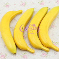 banana display - 5pcs Lifelike Plastic Foam Artificial Banana Decoration Fake Fruit for Kids Pretend Play Party Supplies FZ29