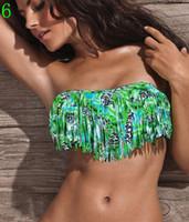 Women Bikinis Fringe Hot Newest SEXY Woman Bikini Sets Fringe Swimwear Tassels Padded Girl Lady Swimming Swimsuit