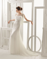 Wholesale 2014 aire barcelona ONEIDA Mermaid Wedding Dresses Transparent Bateau Dora Keyhole Back Beaded Sequin Bridal Dresses Cheap Bridal Gowns