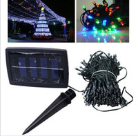 Wholesale New Solar Lamps LED String Solar Pannel leds m Christmas Light Christmas Ornament LED Strip Christmas Decoration
