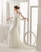 Wholesale 2014 aire barcelona ONEIDA Mermaid Wedding Dresses Transparent Bateau Dora Keyhole Back Beaded Sequin Bridal Dresses Cheap Bridal Gowns