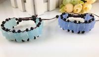 Wholesale Jewel For Christmas Gift Fashion Strands European Design Imitation Jade Lovely Elastic Loose Beaded Charm Bracelet