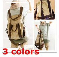 Wholesale Women Lady s Casual Canvas Messenger Shoulder Backpack Hand Multi Bag Purse