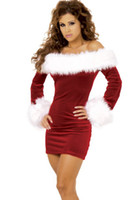 Wholesale Sexy Mrs Santa Claus Outfit Adult Christmas Outfit Costume Women s Fancy Dress set set set free DHL Shipping Utop2012