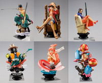 Wholesale Japanese Anime One Piece CHESS PIECE COLLECTION PVC Figure Set Icludes