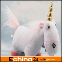 Wholesale 8 inch Hot Film Character Despicable Me Fluffy Unicorn Plush Pillow Toy Doll big Fluffy figure