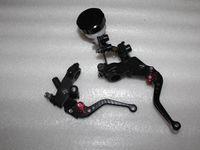 Wholesale Foldable Adjustable Clutch Brake Oil Fluid Master Cylinder Set Reservoir Levers Universal Black Color