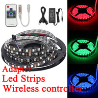 led flexible strip - BEST Led Flexible Strip RGB Waterproof V M SMD LED M WIRELESS IR Remote Led Controller Power supply Adapter Leds strips light SAA