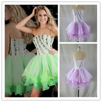 Wholesale - 2014 Real Image Strapless Colorful Rhinestones B...