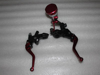Wholesale Foldable Adjustable Clutch Brake Oil Fluid Master Cylinder Set Reservoir Levers Universal Red