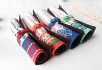 Fabric Calligraphy & Fountain Pens Highlighters Free Shipping!! 16 Pcs Lot, The Fashion National Style Pen Case, Pen Pouch Bag, Pencil cases