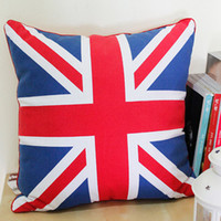 Wholesale Hot UK Flag Printed Square Cushion cm Big Cotton Padded Saddles Soft Pillow SD0901