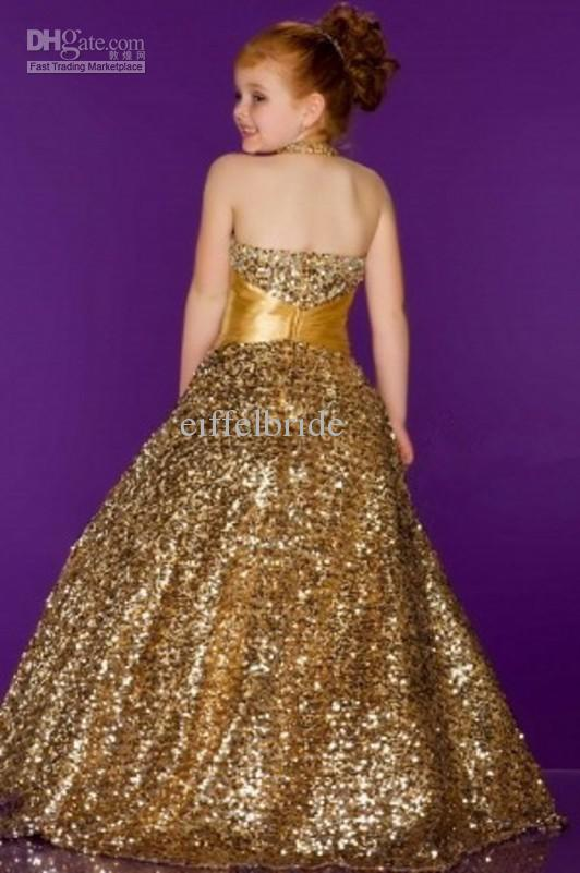 Wholesale - Bling Bling Girl's Pageant Dresses Fashion 2014