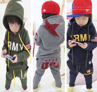 Wholesale Children s fall and winter clothing kids sports suit boy children sets