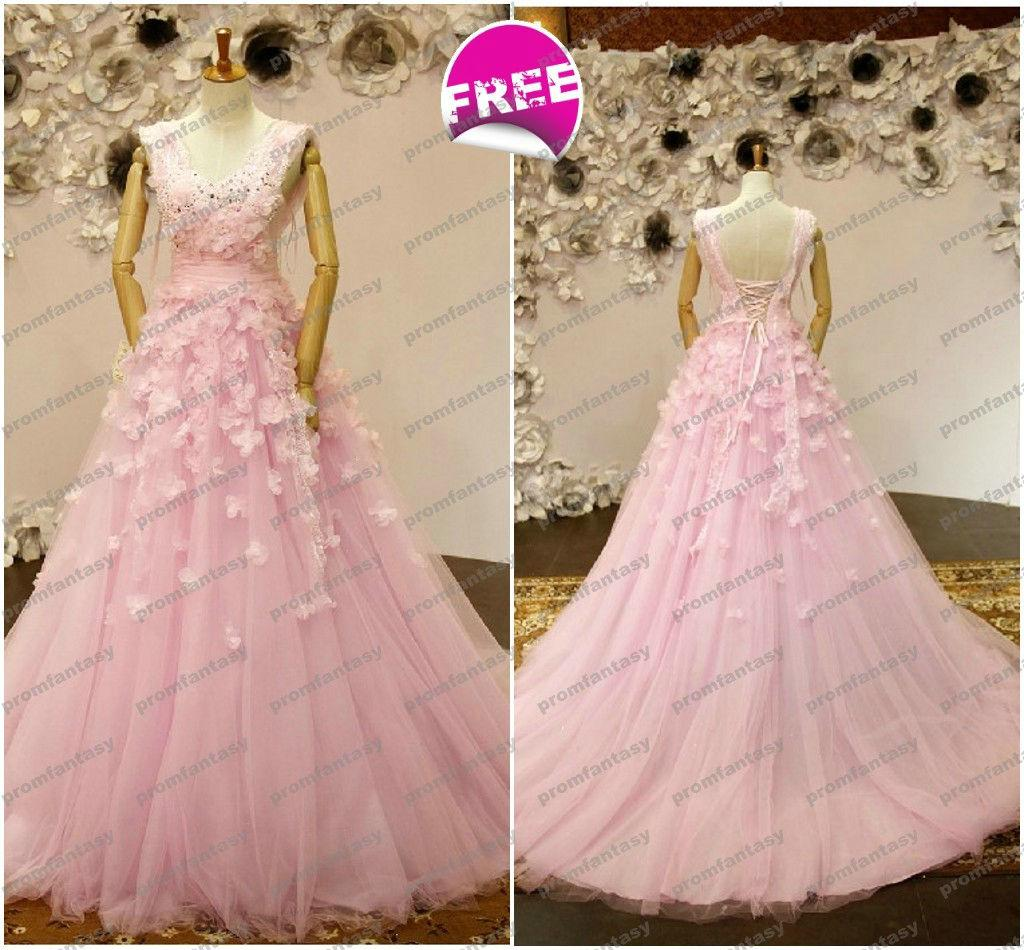 Wholesale elie saab inspired pink tulle wedding dresses dreamy hand