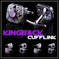 Wholesale The Luxury King Back Nice Austrian crystals cufflinks Retro men shirt cuff French shirts cuff links cuff nails