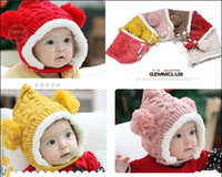 Wholesale Crochet Hats Cashmere Baby Caps Santa Christmas Children s Boys And Gifts Protect Ears Knitting Warm Hats