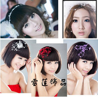 Wholesale Sample order Fashion the sky star pearls bride dish hair products The bride headdress F0076a