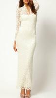 Sexy Women Girls Fashion Floral Maxi Dress Jacquard Lace Vin...