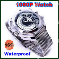 16G   HD 1080P Waterproof Spy Watch Camera Mini DV DVR 16GB IR Night Vision Voice Control From Camcorder