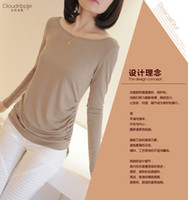 Men Polo Pure 3293 # 2013 fall new milk silk long-sleeved T-shirt bottoming shirt loose simple wild -thin skin-friendly