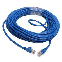F06616 10M CAT5E CAT5 RJ45 Ethernet Internet Réseau Câble Lan Câble Bleu M / M pour réseaux Routeur WiFi