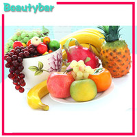 Wholesale Freeshipping New arrival wedding party crafts artificial fruits apples lemon orange banana decorations imitated fruits ornamental fruits