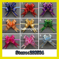 Wholesale 1000Pcs Christmas Gift Packing Pull Bow Ribbons Decorative Holiday Pull Flower Ribbons x25cm