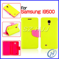 Wholesale New Mercury Fancy Diary PU Leather Case Bright Colored Phone Case with Paper Bag Package For Samsung Galaxy S4 i9500 S3 i9300 Note N7100