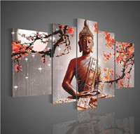 Wholesale cheap Wall art of religious figure of Buddha on the canvas of the canvas no frame