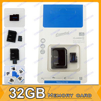 Wholesale 32GB Class Micro SD TF Memory Card Micro SDHC Cards With Free Adapter Retail Package M016N