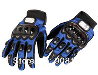 Wholesale YJ Free Ship Motorcycle Men New Racing Bike Bicycle Cycling Full Finger Protective Gloves Black Red Blue