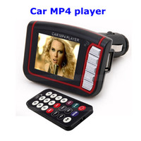 Wholesale 1 quot LCD Car MP3 MP4 Player Wireless FM Transmitter SD MMC Card with Remote Control Black