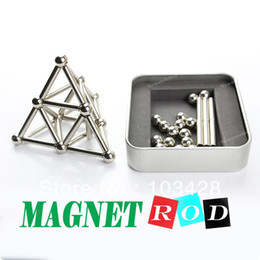 Wholesale Freeshpping Neodymium Buckybars Stick Rod Magnet Rare Earth mm mm Round Magnetic Buckyballs with Free Balls TO US DAYS