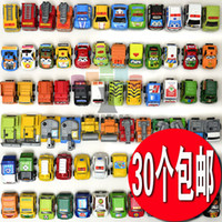 Big Kids Car Metal Wholesale! 35pcs lot Pull Back Mini Car Toys Children Racing Car Toys Mini Cars Police car Fire Truck Figure size Free shipping