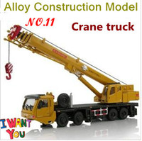 Wholesale Genunie All alloy Giant crane truck model high quality construction vehicles toy body rotatable Full size
