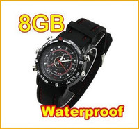 Wholesale 8GB Watches Digital Camera Mini Hidden DVR in Watch Video Recorder Waterproof Camcorder