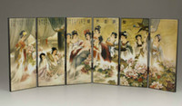 Wholesale CHEAP NEW CHINESE LACQUER HANDWORK PAINTING BELLE the imperial concubine bath SCREEN